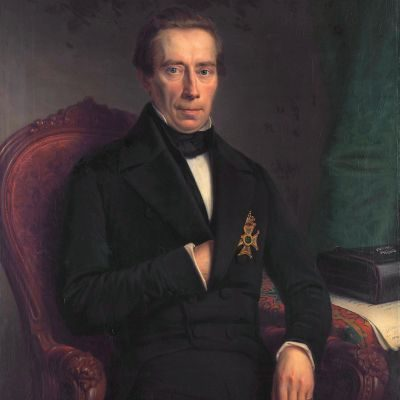 Johan Rudolf Thorbecke (1796-1872)  *oil on canvas  *100 × 84 cm *`signed b.l.: J.H. Neuman f. / 1852
